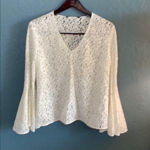 Women's Lace Bell Sleeve Zara shirt.
